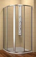 Duschkabine 80x80 cm, Viertelkreisdusche 80x80x185