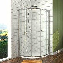 Duschkabine 80x80cm Eckeinstieg Runde Dusche mit