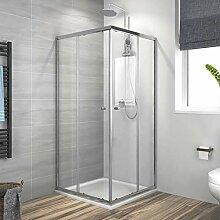 Duschkabine 80x80x185cm mit Duschtasse,