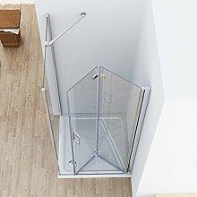 Duschkabine 80x90 Eckeinstieg Dusche Falttür 80cm