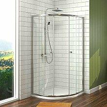 Duschkabine 90x90 cm Duschabtrennung Viertelkreis
