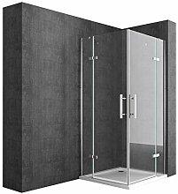Duschkabine 90x90 Eckeinstieg Komplett Duschtasse