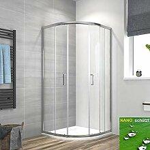 Duschkabine 90x90cm Eckeinstieg Runde Dusche