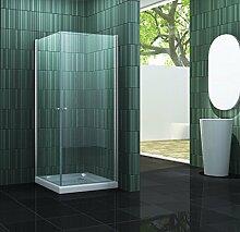 Duschkabine CASA 80 x 90 x 190 cm ohne Duschtasse