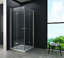 Duschkabine CLAP 80 x 90 x 195 cm ohne Duschtasse