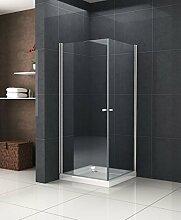 Duschkabine DETO 80 x 90 x 190 cm ohne Duschtasse