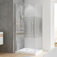 Duschkabine Dusche Drehtür mit Seitenwand 80x80