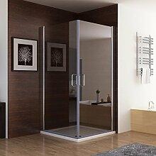 Duschkabine Dusche Duschwand 180° Schwingtür