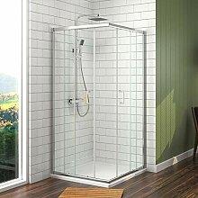 Duschkabine Eckeinstieg 75x90 cm Duschabtrennung