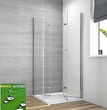 Duschkabine Eckeinstieg 75x90cm Duschabtrennung