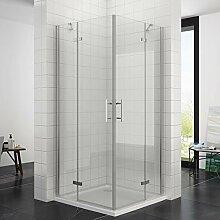 Duschkabine Eckeinstieg 80 x 80 x 195 cm mit