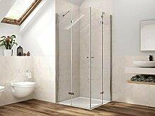 Duschkabine Eckeinstieg Dusche Falttür 80 x 80 x