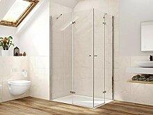 Duschkabine Eckeinstieg Dusche Falttür 80 x 90 x