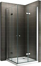 Duschkabine Eckkabine mit Falttüren