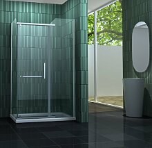 Duschkabine ENCO 100 x 80 x 195 cm ohne Duschtasse