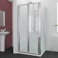 Duschkabine Falttür 100x80cm mit Seitenwand