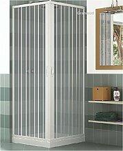 Duschkabine mit zwei verschließbaren Türen und