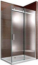 Duschkabine Nano Echtglas EX806 Schiebetür - 90 x