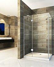 Duschkabine NORMA 100 x 80 x 190 cm ohne Duschtasse