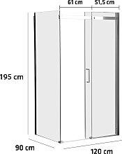 Duschkabine Phuket-120x90 cm