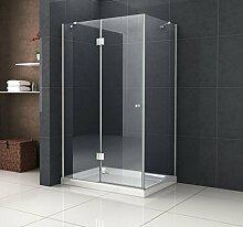 Duschkabine RECREO 100 x 80 x 190 cm ohne