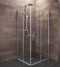 Duschkabine Rom 90x90 cm Eckeinstieg Falttür