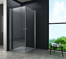 Duschkabine SPA 80 x 90 x 190 cm ohne Duschtasse