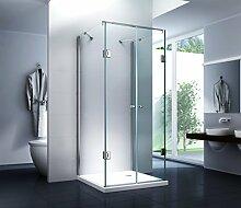 Duschkabine U Form Dusche Mia 100 x 80 x 195cm -