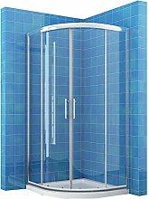 Duschkabine Viertelkreis 80x80 Duschabtrennung mit