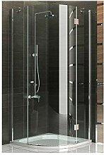 Duschkabine Viertelkreis Echtglas Duschabtrennung