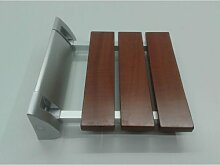 Duschklappsitz mit Holz-Sitzfläche, Klappbar mit