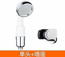 Duschkopf Abs-Handheld Ion Wasseraufbereitung filter boost Regendusche und Dusche + hohe Scanner block