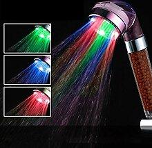Duschkopf Handbrause LED Anion Dusche Wasserhahn