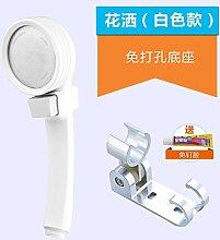 Duschkopf Verchromte ABS-Handheld Ion Wasseraufbereitung filter boost Regendusche und die Wahlen so bald wie möglich mit einem Schalter von der Basis der Nägel weiß +