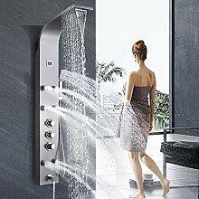 Duschpaneel mit Thermostat aus rostfreiem