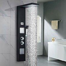 Duschpaneel Thermostat Duscharmatur aus Edelstahl,