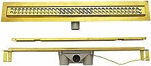 Duschrinne 80 cm Edelstahl Befliesbar Gold