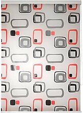 Duschrollo- Halb- Kassetten Duschvorhang mit