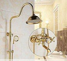 Duschset Gold Grün Jade Marmor Dusche Antik