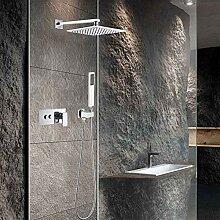 Duschset Unterputz Chrom Vierkant Kupferdach