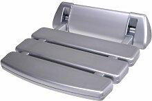 Duschsitz klappbar Silber Duschklappsitz