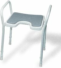 Badezimmer JAZS® Duschstuhl höhenverstellbar Anti-Rutsch-alter Mann Schwangere Frauen Bad Stuhl Badezimmer Duschstuhl Praktisch komfortabel und stabil