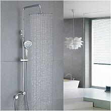 Duschsystem aus Edelstahl ohne Armatur,
