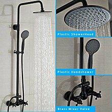 Duschsystem Bronze Schwarz Duscharmatur-Set