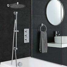 Duschsystem für Badewannen mit Thermostat, 300mm