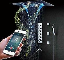 Duschsystem, LED-Thermostat-Duschsystem mit vier