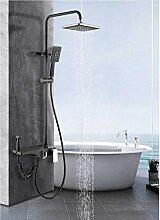 Duschsystem Mattschwarz Wandduschset Wasserhahn