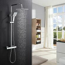 Duschsystem mit Thermostat, Regendusche Duschkopf