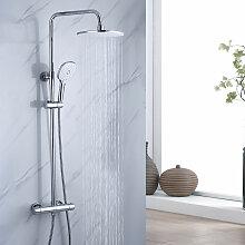 Duschsystem mit Thermostat Regenduschset, 2