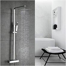 Duschsystem Regendusche mit Thermostat Duschset